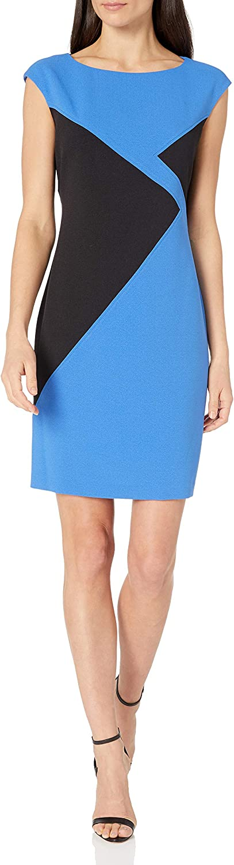 NINE WEST Dresses Women's Sleeveless Colorblock Dress