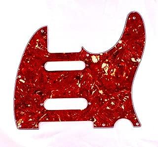 (B01) Guitar Pickguard For Fender Nashville Telecaster Style Tele ,4ply Tortoise Red (B01)