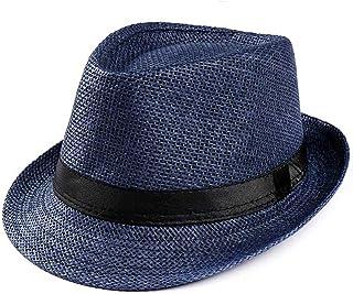 f36c83fdc92b18 Vintage Straw Hat Mens Panama Hats Women Summer Retro Bowler Jazz Hat Beach  Sun Cap Classic