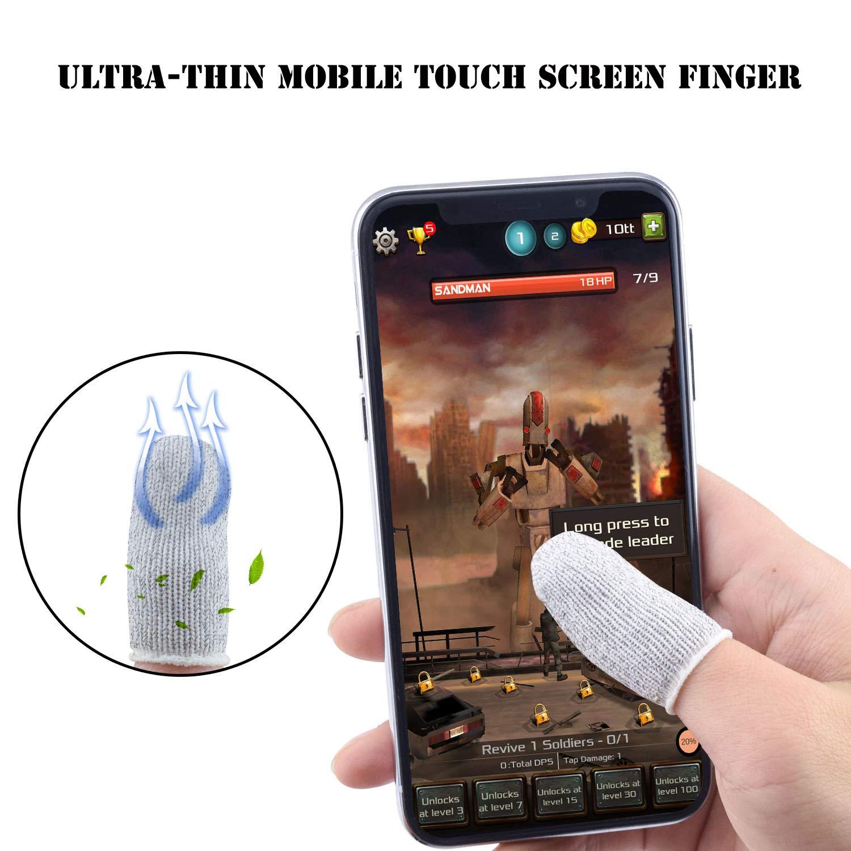 Newseego PUBG Mobile Game Finger Sleeve [Paquete de 10], Pantalla ...