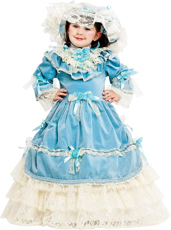 Costume di autonevale da Via col Vento bambino Vestito per Bambina Ragazza 1-6 Anni Travestimento Veneziano Htuttioween Cosplay Festa Party 53167 Taglia 5