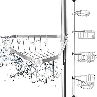 EDELHAND© Teleskop Duschregal Edelstahl für Höhe von 105 bis 270 cm –..