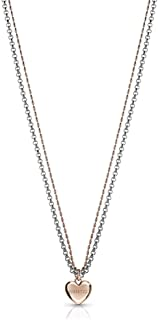 Guess Unchain My Heart Multi-Strand Pendant Necklace for Women - Silver & Rose Gold