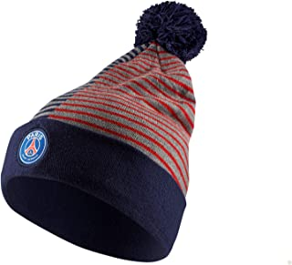 Paris Saint Germain PSG Stripe Knit Beanie (Midnight Navy/Challenge Red) OSFM