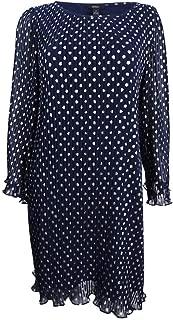 MSK Women's Metallic-Polka-Dot Pleated Chiffon Dress