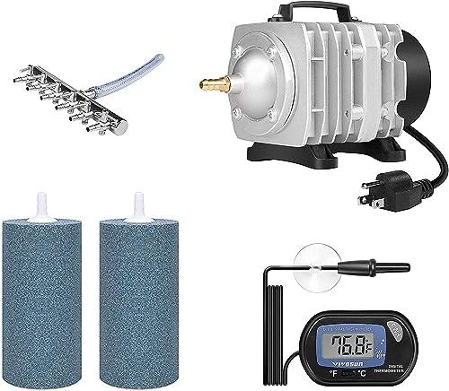 popular VIVOSUN 1-Pack LCD Digital Aquarium Thermometer, 32W outlet sale Air Pumps, Air Stone 2PCS 4 X 2 online Inch sale