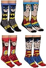 4-Pack Jacquard Knit Unisex Crew Socks Gift Sets