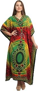 RADANYA Floral Long Kaftan Maxi Dress Womens Summer Holiday Beach Kaftan Dresses for Women