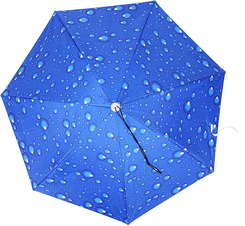 Longzhuo Umbrella Hat Headwear Cap Windproof Max 44% OFF Sunscreen Max 51% OFF Hea 77cm