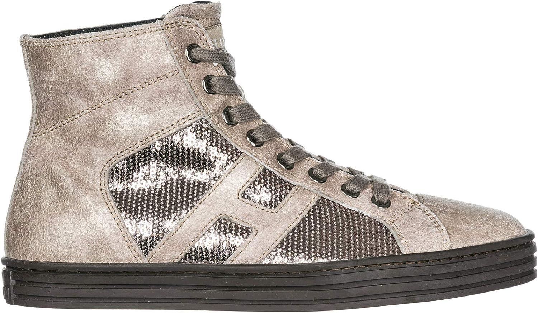 .Hogan Rebel Women R141 high-top Sneakers argilla palude 3 UK