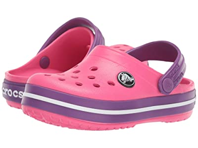 Crocs Kids Crocband Clog (Toddler/Little Kid) (Paradise Pink/Amethyst) Kids Shoes