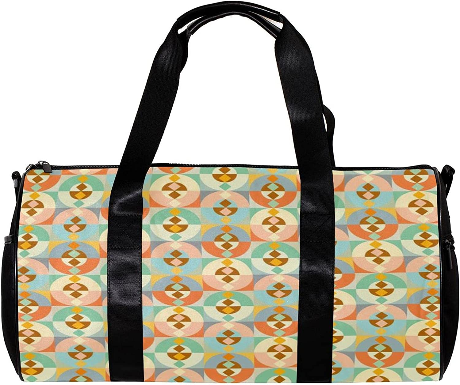 LEVEIS Abstract Clearance SALE Limited time Geometric Shape Sports Ca Tote Travel Duffel quality assurance Bag