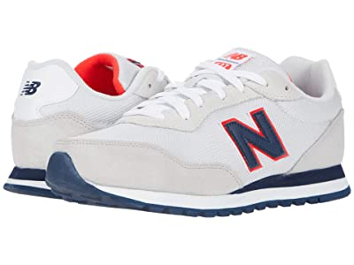 New Balance Kids 527 (Big Kid) (Summer Fog/Energy Red) Boy