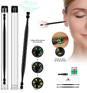 Ear Wax Removal, Mexitop Ear Cleaner, New Turbofan Structure for Complete Ear Cleaning, One-Piece Earsafe Design, w/Bonus BlackGold Ear Pick, Works on Ear Flushing/Drop/Irrigation/Q-Tips/Cotton Swab