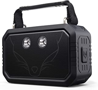 DOSS Traveler Wireless Portable Bluetooth Speakers, Waterproof IPX6, 20W Stereo Sound and Bold Bass, 12H Playtime, 5 Light... photo