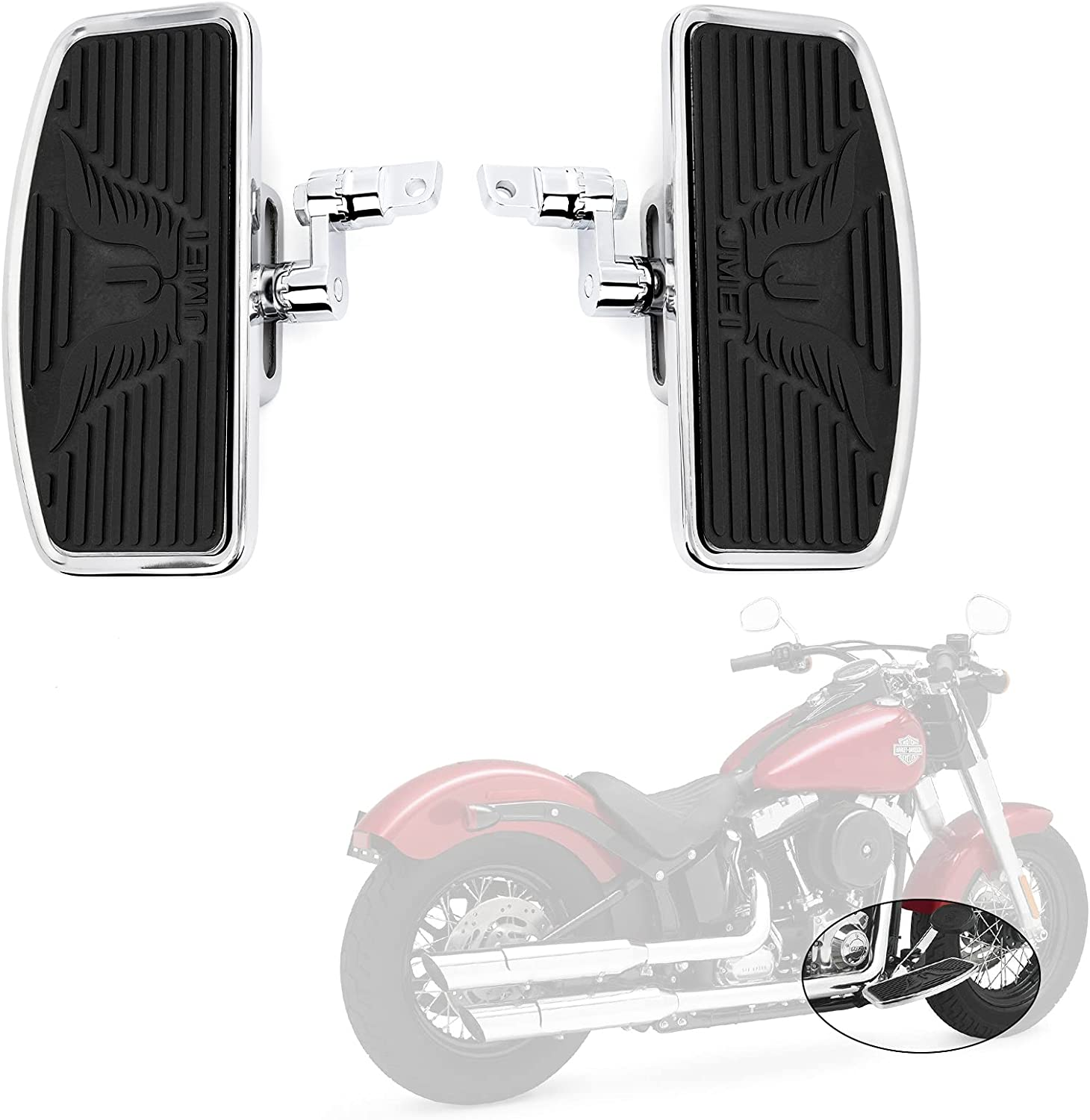 Adjustable New York Manufacturer OFFicial shop Mall Motorcycle Floorboards Front Pegs Foot Passenger