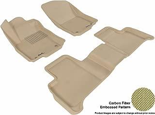 3D MAXpider Complete Set Custom Fit All-Weather Floor Mat for Select Mercedes-Benz GLE-Class/ ML-Class Models - Kagu Rubber (Tan)
