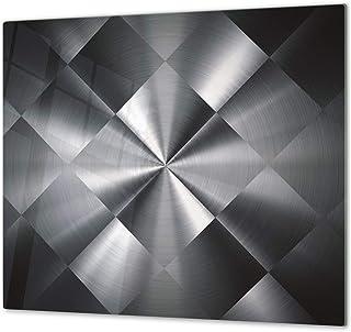 Cubre vitro resistente a golpes y arañazos - Tabla de cortar de vidrio templado - Encimera de trabajo – UNA PIEZA (60 x 52 cm) o DOS PIEZAS (30 x 52 cm); D01 Serie Abstracciones: Textura 52