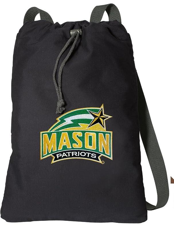 亜熱帯救急車値するジョージ?メイソン大学DrawstringバックパックリッチキャンバスGMU Cinch Bag