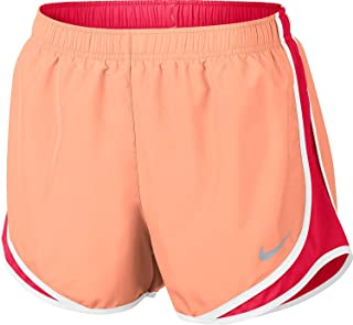 Nike Women's Dri-Fit Tempo Running Shorts-Peach/Pink-XS