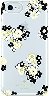 kate spade new york Protective Hardshell Case for iPhone 8, iPhone 7, iPhone 6/6s - Floral Burst Clear/Cream/Black/Gems
