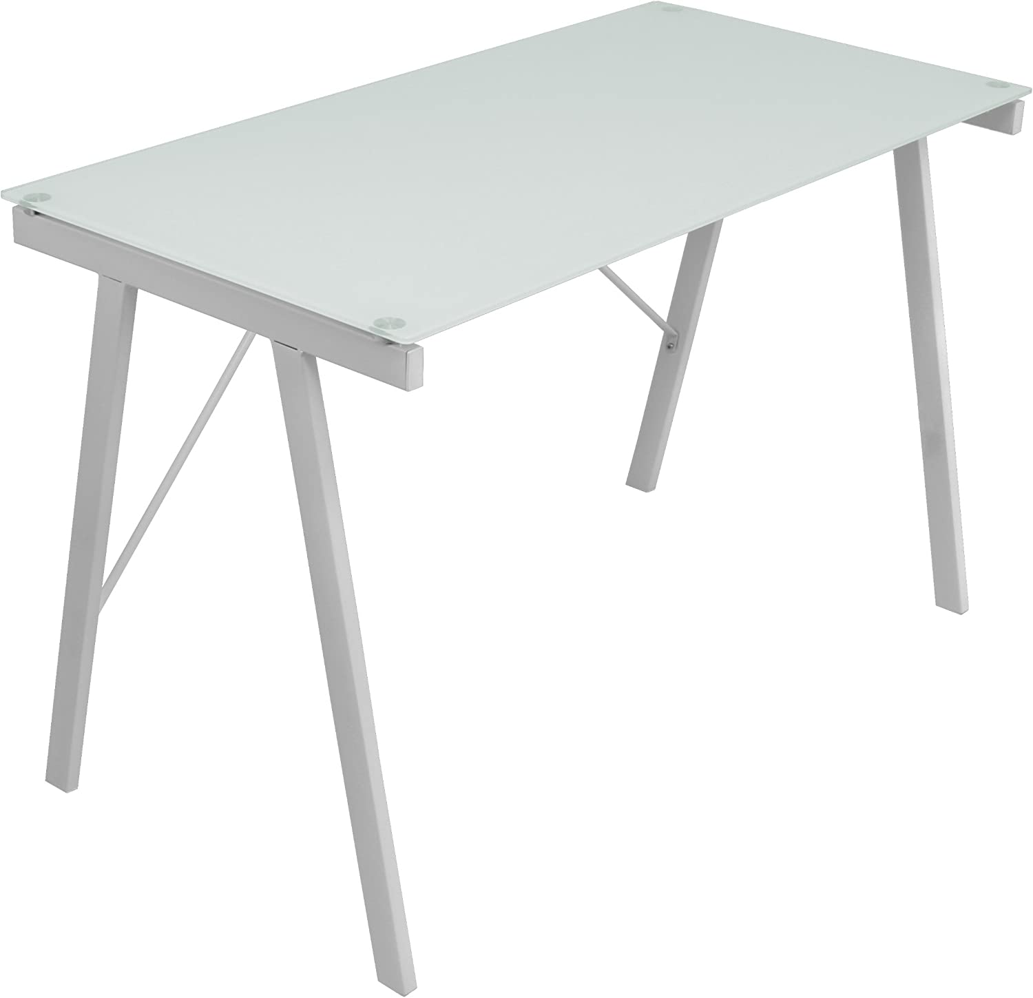 LumiSource OFD-TM-PBLNK W Exponent Contemporary Desk in White