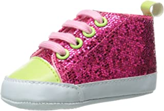 Luvable Friends Kids' Sparkly Sneaker Crib Shoe