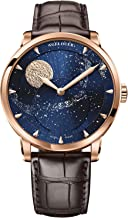 Agelocer Men's Watch Luxury Brand Blue Automatic Watches for Men Moon Phase Power Reserve Mechanical Watch Masculine Fashion Wrist Watch