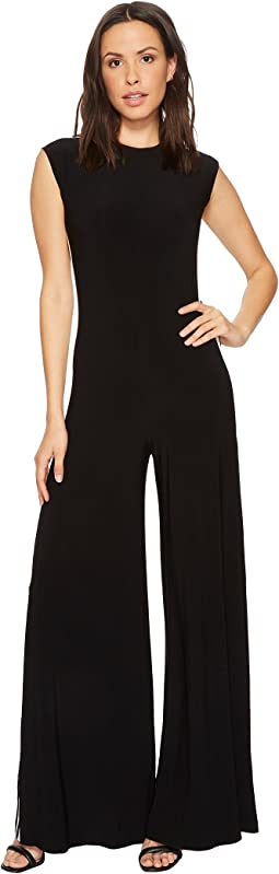 KAMALIKULTURE by Norma Kamali Side Stripe Sleeveless Jumpsuit
