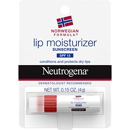 Neutrogena Norwegian Formula Nourishing Lip Moisturizer with SPF 15 Sunscreen, Soothing and Conditioning for Chapped or Dry Lips, Non-Waxy, PABA- and Fragrance-Free,.15 oz (Pack of 12)