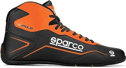 SPARCO (スパルコ) レーシングシューズ K-POLE ブラック×オレンジ (EU40 (25.1-25.7cm))