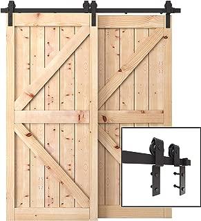 Best sliding barn door hardware double Reviews
