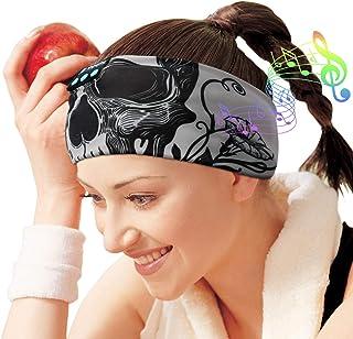 Auriculares de dormir con Bluetooth, auriculares inalámbricos para dormir, música deportiva, auriculares para dormir, auriculares para dormir, bocinas delgadas integradas, diseño de calaveras para dormir, correr y hacer yoga