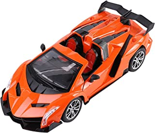 Best Price Center Performance Orange Italian Venom RC Racecar 1:16 Scale with Functional Lights and Doors for Ages 3 Plus