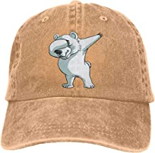 Unisex Dab Polar Bear Dabber Dance Vintage Chic Denim Adjustable Trucker Hats Baseball Cap Black
