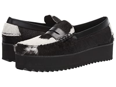 Sebago Dan Wedge (Black/White) Women