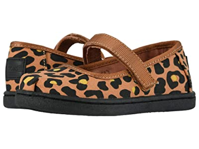 TOMS Kids Mary Jane (Infant/Toddler/Little Kid) (Toffee Cheepard Print) Girls Shoes