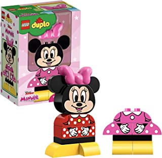 LEGO 10897 DUPLO Disney Junior My First Minnie Build Set with 2 Buildable Minnie Mouse Outfits, Preschool Toy For Kids Age 2+