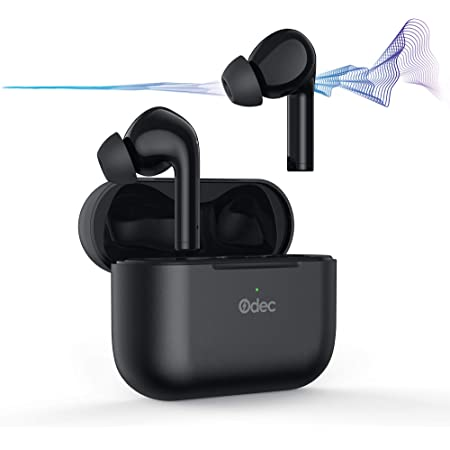Odec Auriculares Bluetooth, In Ear Auriculares Inalámbricos con Cancelación Activa De Ruido, 35 Horas y Carga Rápida USB-C, 4 Micrófonos,Bluetooth 5 S.