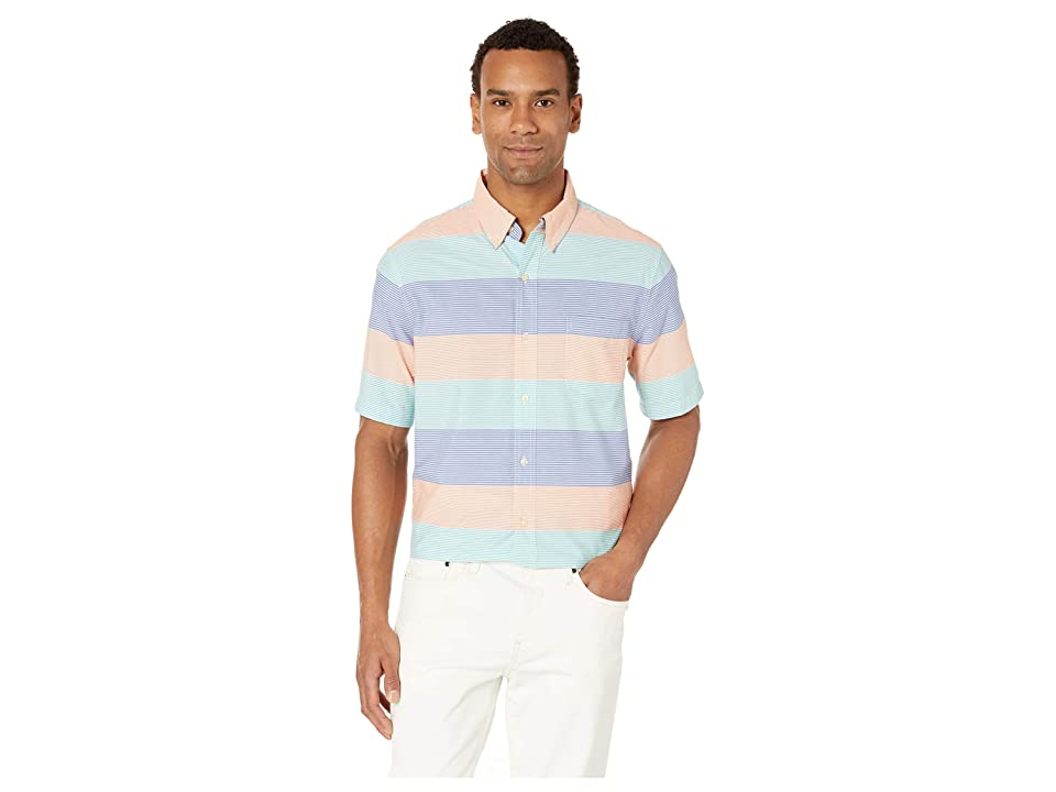 CHAPS Easy-Care Short-Sleeve Sport Shirt (Blue) Men