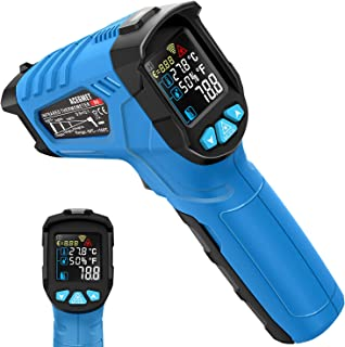 Infrared Thermometer, Acegmet Infrared Thermometer Gun Non-Contact -58℉~1022℉ (-50℃ ~ 550℃) Adjustable Emissivity with Color LCD Screen Digital Temperature Gun Alarm Setting for Cooking BBQ