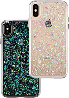 Velvet Caviar for Cute iPhone X Case & iPhone Xs Case Glitter Iridescent Holographic for Women & Girls - Protective Phone Cases [Drop Test Certified] - Sparkle Opal