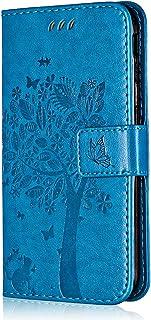Conber Cover per Samsung Galaxy A20S, Custodia in Pelle PU con Interno TPU Antiurto, Serie Gatto e Albero Flip Case Cover ...