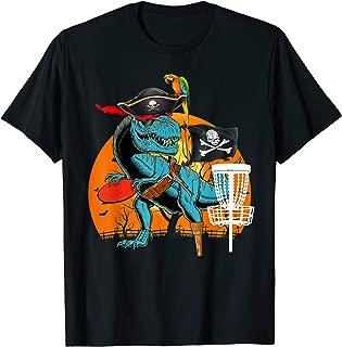 Jolly Roger T-rex Dinosaur Pirate Disc Golf Halloween T-Shirt