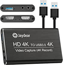 Capture Card 2 HDMI 1 USB 3.0 Output 4k 1080p 60fps Game Live Streaming Broadcast with Loop Out Passthrough Low Latency Au...