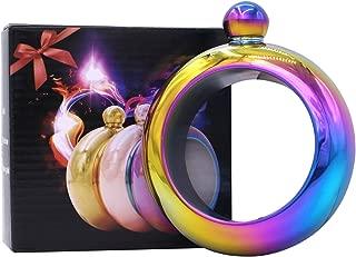 DERNORD Bracelet Flask,Stainless Steel 304 Bangle Fashion Flagon Innovative Wine Hip Flask (Rainbow)