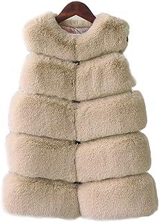 58d16668a FOLOBE Niño Faux Fox Fur Chaleco Kid Soft Gilet Niñas