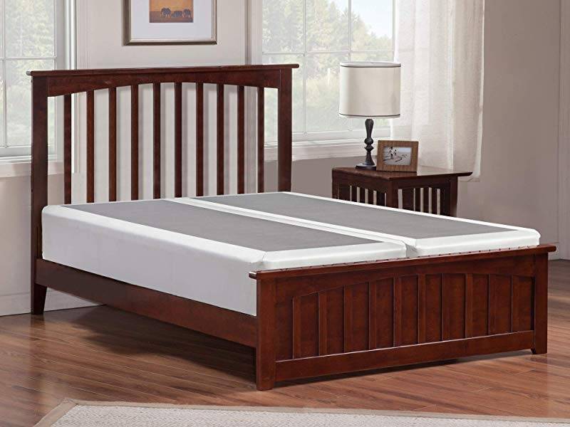 Mayton 4 Inch Queen Size Split Box Spring Low Profile Mattress Foundation Strong Structure 59x79