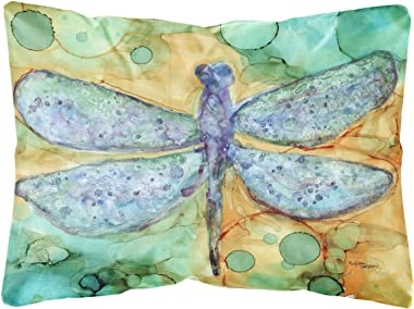 Caroline's Treasures 8967PW1216 Abstract Dragonfly Fabric Decorative Pillow, 12H x16W, Multicolor