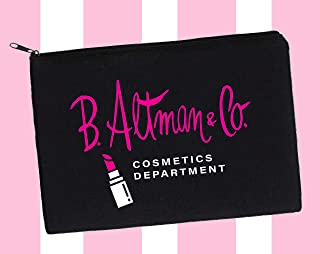 """Makeup Pouch""""B. Altman & Co COSMETICS DEPARTMENT"""" homage to Mrs Maisel"""